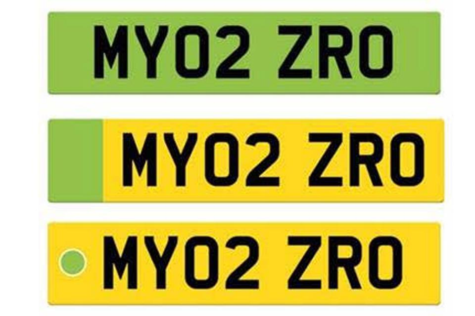 Green Number Plates for EVs