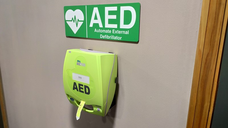 Defibrillator at Millbank House